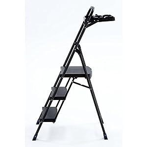 Amazon Com 5 Ft Steel 3 Step Pro Hybrid Step Stool