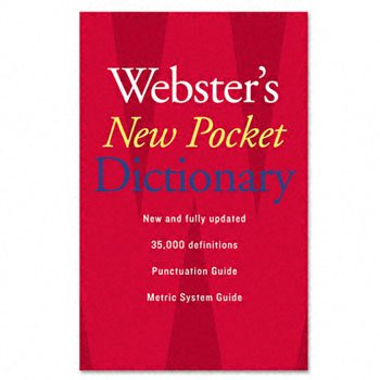 - Webster's New Pocket Dictionary, Paperback, 336 Pages