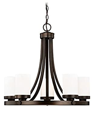 Vaxcel H0167 Sorin 5 Light Chandelier, Architectural Bronze Finish