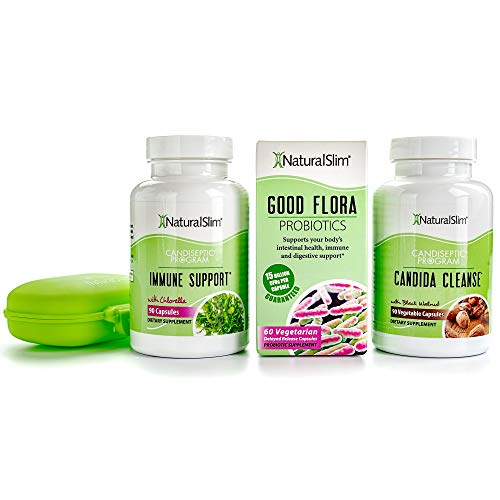 NaturalSlim Candida Albicans Treatment, Formulated by Award Winning Metabolism and Weight Loss Specialist- Full Detox and Cleanse of Fungus for Health and Weight Loss -