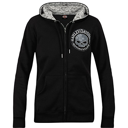 Harley-Davidson Military Women's Zippered Printed Hoodie - Overseas Tour | Sparkle G ()