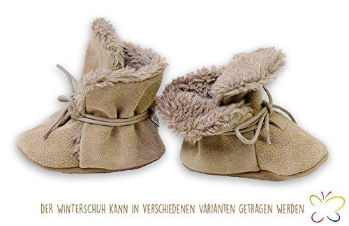 Baby Winterschuhe für Kinder von HOBEA-Germany, Größe Schuhe:20/21 (12-18 Mon), Grundfarben Schuhe/Modelle:grau/weiß beige