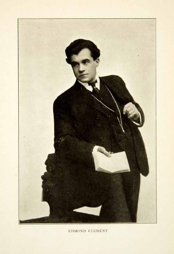 1912 Print Edmond Clement Portrait Tenor Singer Music Metropolitan Boston Opera - Original Halftone Print (1912 Print)