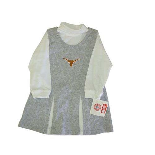 Mighty Mac Texas Longhorns NCAA Toddler Grey Cheerleader Halloween Costume Size 3T