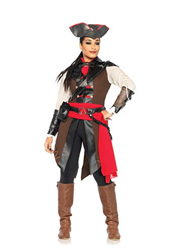 Women's Assassin's Creed 8 Piece Aveline Deluxe Costume Cosplay, Multi, Large