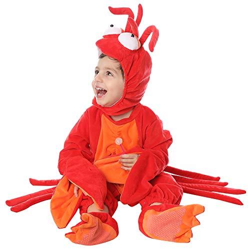 Homemade Baby Farmer Costumes - Dantiya Baby's Little Lobster Romper Play