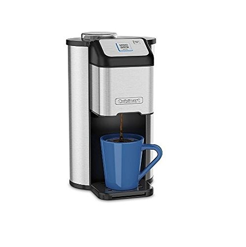 Cuisinart Single Cup Grind & Brew Coffeemaker with Automatic Blade Grinder and Removable Parts & Removable Parts & BONUS FREE Gold Tone Filter Included