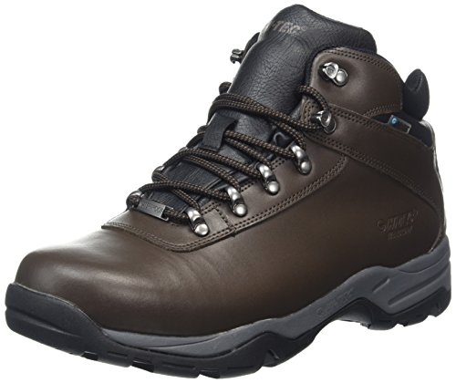 Hi-Tec Eurotrek Iii Waterproof, Zapatos De High Rise Senderismo Hombre Marrón (Dk Chocolate)