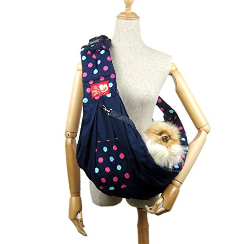 Alfie Pet by Petoga Couture - Hollis Pet Sling Carrier with Adjustable Strap - Color: Navy by Alfie
