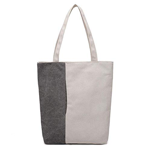 Off voor grijs Shoulder capaciteit Wwave Canvas grote dames bag Baotan elegante Shopping Handtassen tas Leisure R5Hq4Xqca