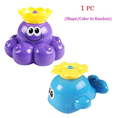 Fun Fishing Octopus Whale of Baby Bath Shower Toys Rotating Sprinkler Water Spray Kids Gift(1pc,Shape&Color In (Jake And The Neverland Pirates Sleeping Bag)
