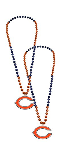 Official National Football League Fan Shop Authentic NFL Team Party Mardi Gras Custom Tailgate Beads 2-pack (Chicago (Authentic Mardi Gras Masks)
