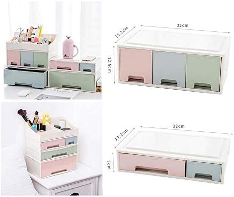 Büro Kunststoff Desktop Aufbewahrungsbox Schubladen Organizer, A-3