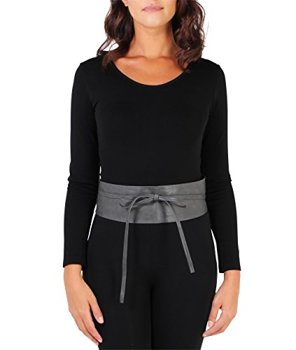 Self Tie Waist Belt (Size UK/US - One Size), Charcoal (14987)
