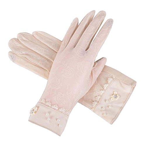 感謝メディックダイエット女性の手袋、夏に使用、日焼け止め、抗UV&ノンスリップ、タッチスクリーン、C4