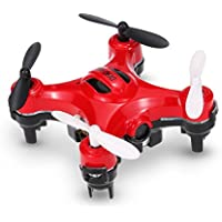 Lcyyo@ DHD D2 Mini 2.4Ghz 4CH 6-Axis Gyro Drone 2.0MP HD Camera RC Quadcopters with Camera-shaped Transmitter for Kids Adults (Red)