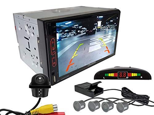 Multimidia Mp7 RS-707MP7 Com Câmera De Ré RS-122BR E Sensor De Estacionamento RS-104BR CINZA