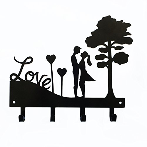 Love Couple Key Holder | Key Holder for Wall | Key Rack Orga