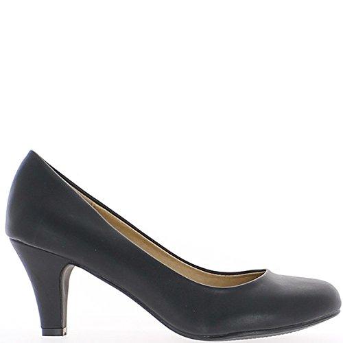 Vernice scarpe retrò con nodo a tacchi 10cm Nero