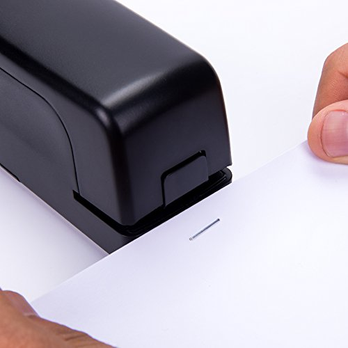 Stapler, Veyette Automatic Electric Stapler for Office School and Home, AC Adaptor Included, Battery Operated, 20 to 25 Sheets Capacity, Use Standard Staples, Black by Veyette (Image #7)