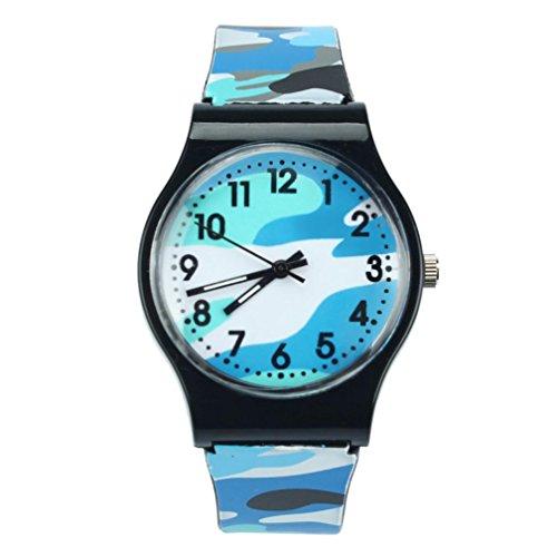 Price comparison product image START Camouflage Children Watch Wristwatch For Girls Boy-Blue