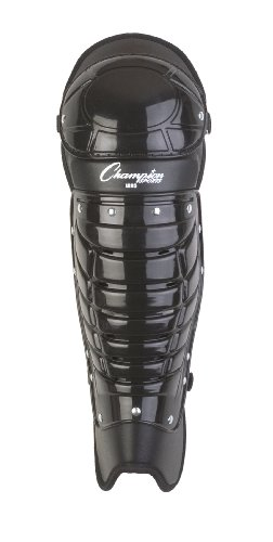 (Champion Sports Umpire Leg Guards: Single Knee Umpire's Shin Guard for Baseball & Softball - Pair of 16.5