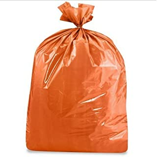 product image for USA-Made Colorful Trash Bags in Variety of Sizes and Colors (10, ORANGE 43 GALLONS)
