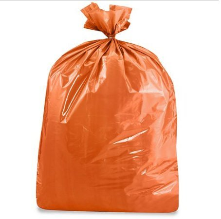 USA-Made Colorful Trash Bags in Variety of Sizes and Colors (10, Orange 33 GALLONS)