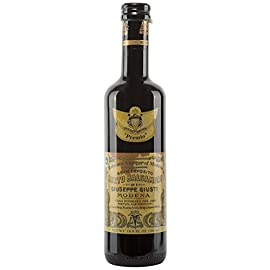 "Giuseppe Giusti ""Premio"" Balsamic Vinegar of Modena 16.9 fl.oz (500ml) 4 🍇 Try it as a thick, tart-sweet addition to any dish, from poultry, fish, meat and game or cheese to fruits and desserts. 🍇 Try it on braised pork, marinate a chicken with it or soak it up with hunks of Pugliese bread"
