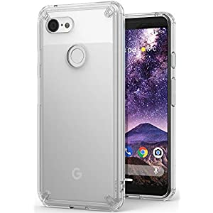 Ringke Fusion Designed for Google Pixel 3 Case Clear Transparent PC Back TPU Bumper [Glass Back Qi Wireless Charging Support] Raised Bezels Scratch Protection Natural Form Cover for Pixel 3 - Clear