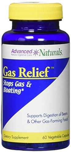 Advanced Naturals Gas Relief Caps, 60 Count by Advanced Naturals
