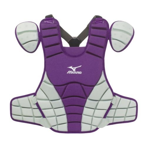 Mizuno G3 Samurai Chest Protector, 15-Inch, Purple/Grey Mizuno Samurai Chest Protector