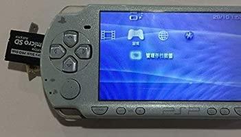 LXSINO PSP Adaptador de Memory Stick, Funturbo Micro SD a Memory Stick PRO Duo MagicGate Card para Sony Playstation Portable, Cámara, Handycam