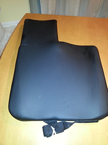 Amputee Cushion Black Polyurethane Cover 10'' Extension on Left Side for 18''w.c.