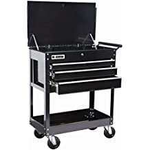 Roller Cart Tool Cabinet Storage Chest Box Glossy Black 4 Drawer 580 Lb. Capacity by US General