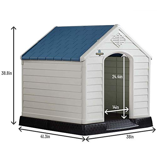 Confidence Pet Plastic Dog Kennel Outdoor Winter House (Extra Large)