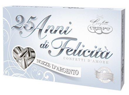 Crispo, Italian Shiny Silver Almond Confetti (Naturale Argento) (2 Lbs)