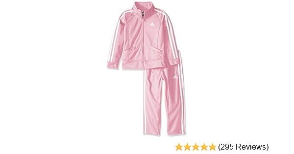 06546ff01 Amazon.com  Adidas Girls  Tricot Zip Jacket and Pant Set  Clothing