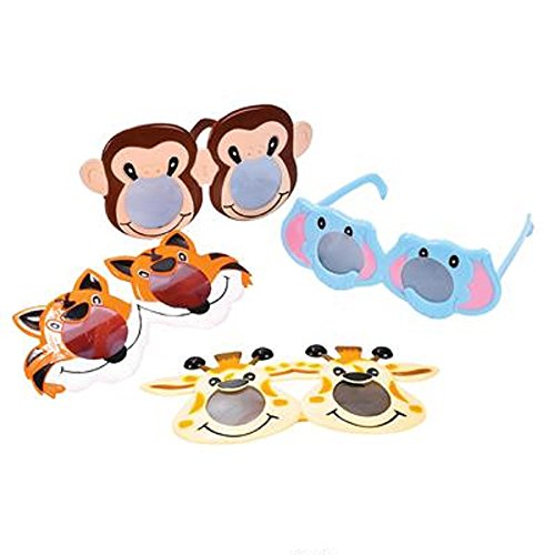 Kiddie Christmas Costumes (Kiddie Zoo Animal Toy Sunglasses, Assorted styles. One dozen.)