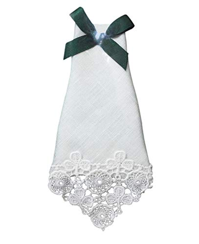 - Charles Gallen Ladies Linen Handkerchief Embroidered Lace Shamrock Design