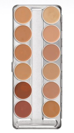 Kryolan 1004 Supracolor Makeup Palette 12 Colors - TV (Brand New Color) by Kryolan