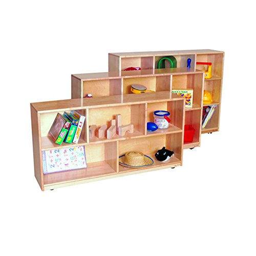 Wood Designs Kids Play Toy Book Plywood Organizer Wd13020 Single Storage, 30''H, Maple by Wood Designs