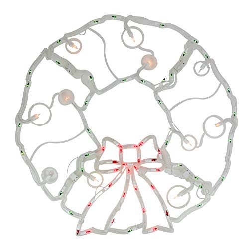 Outdoor Lighted Artificial Christmas Wreaths in US - 8