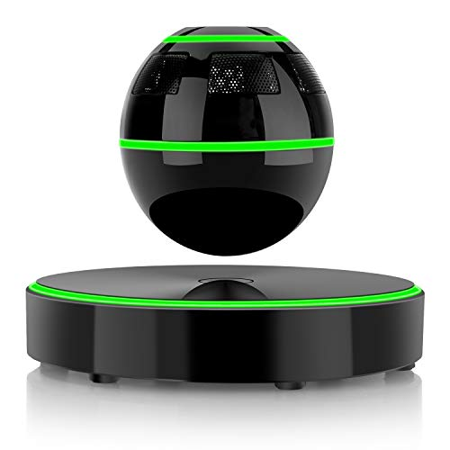 Levitating Bluetooth Speaker, UPPEL Floating Portable Bluetooth Speaker with Bluetooth 4.1, 360 Degree Rotation, Touch Control Button and Colorful Led Flashing Show Magnetic [Black] ()