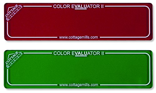 Color Evaluator II - Red & Green Viewing Filter Set - Color Value Finder/Gray Scale Contrast Evaluator. Get The Right Color Mix for Your Project! (Red Green)