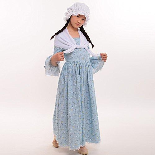 GRACEART Colonial Girls Dress Prairie Pioneer Costume 100% Cotton (Light Blue,Size-10) by GRACEART (Image #6)