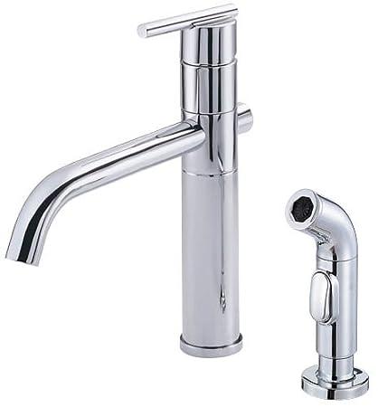 Danze D405558 Parma Single Handle Kitchen Faucet with Side Spray, Chrome