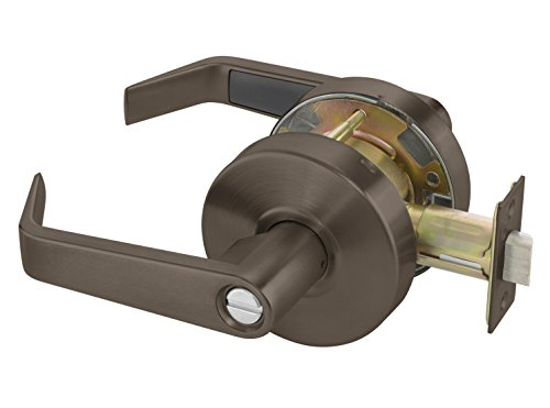 Yale AU4602LN x 613E Cylindrical Lockset, Grade 2, Privacy Function, 2 3/4