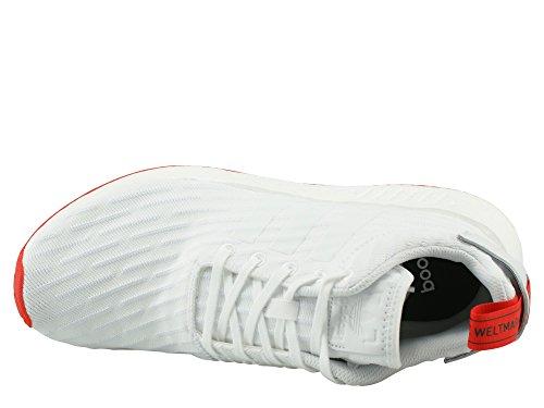 Adidas Nmd R2 Prime Gebreide Ba72 (7.5, Wit / Rood)