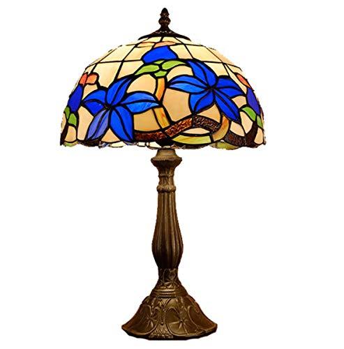 GDLight Tiffany Style Gardenia Lámpara de Mesa Lámpara de Mesa de ...